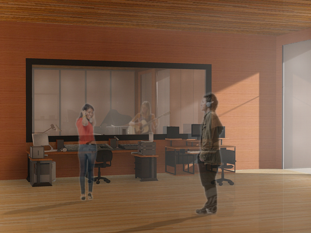 Recording Studio - Rendered in Podium and entorage added in Photoshop