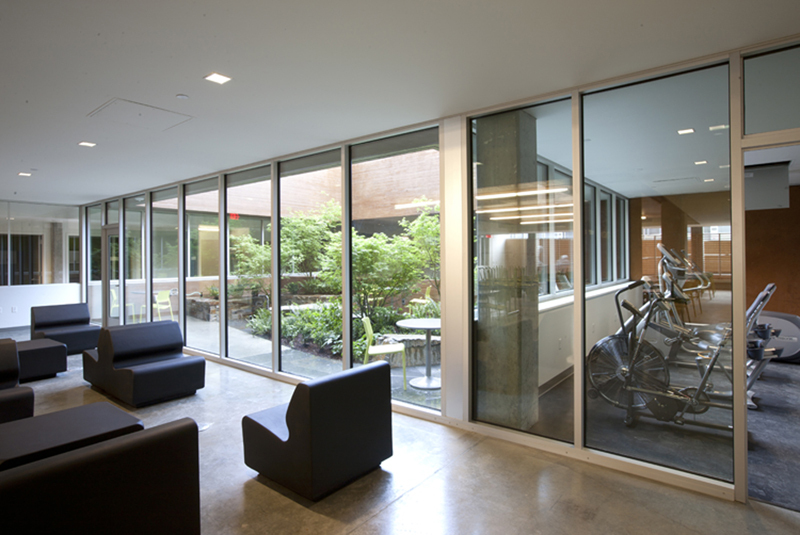 Exercise room and Commons ©Sally Schoolmaster