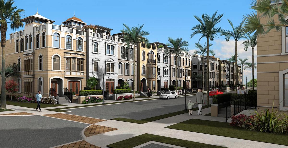 row house block design