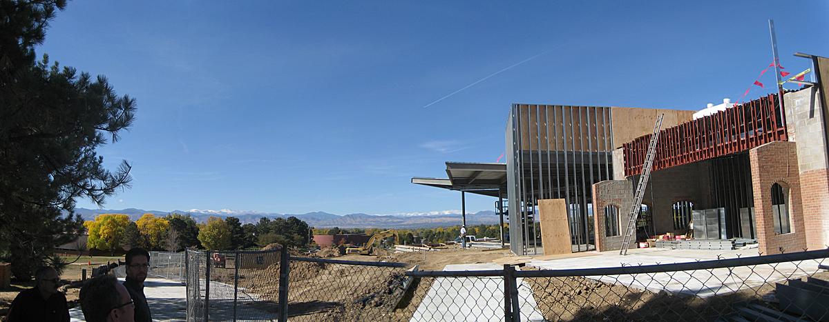Construction view towards west