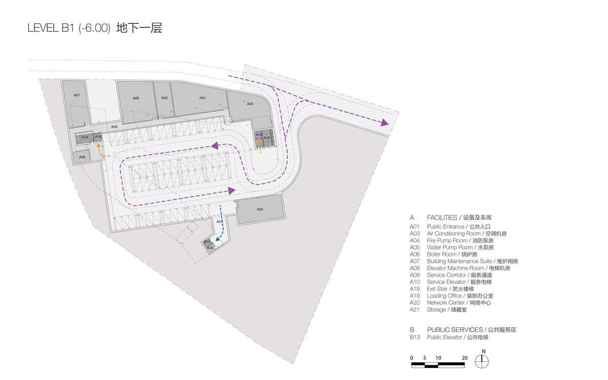 Plan at Level B1 (© Studio Link-Arc)