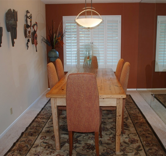 Dining area, completed