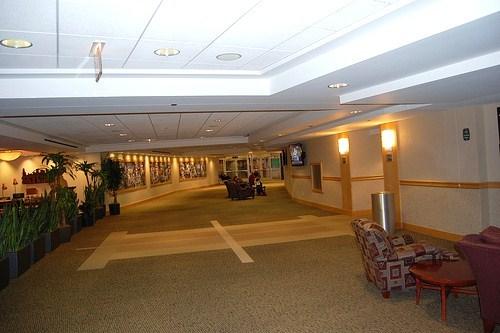 Newly Enclosed Club Concourse