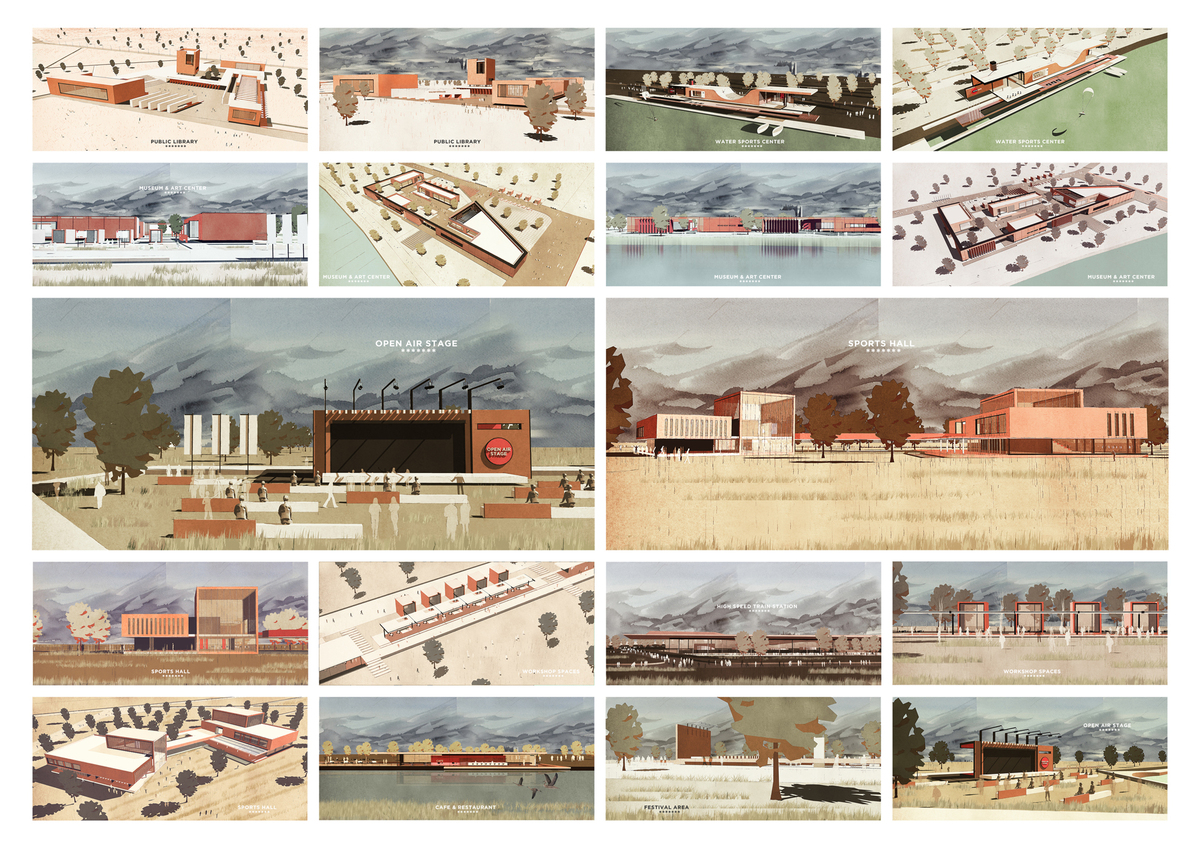 049 – ARCHITECTURAL IDENTITY | SKETCHES - Image Courtesy of ONZ Architects & MDesign