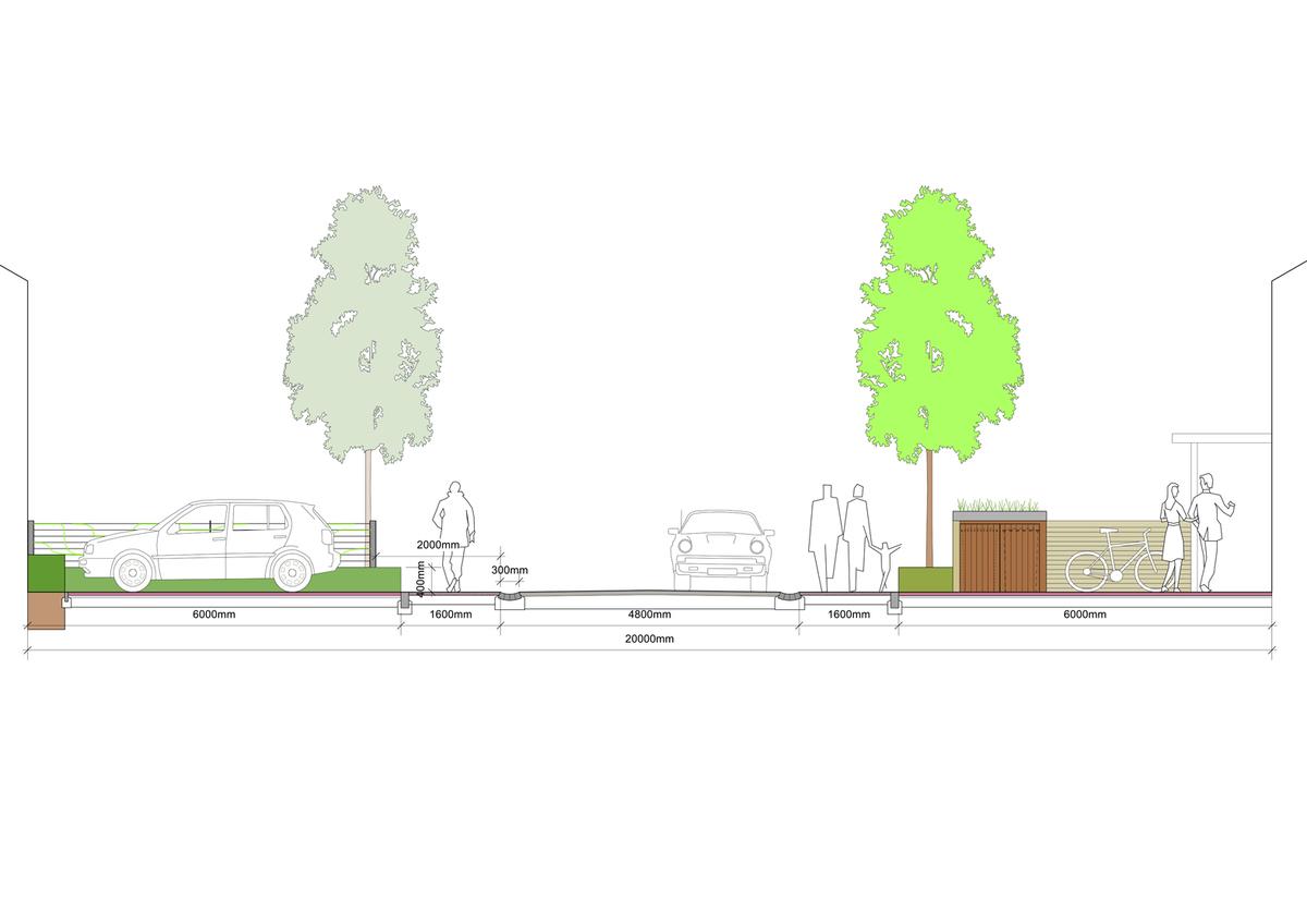 Oxford Stadium Residential Development Sketch Section
