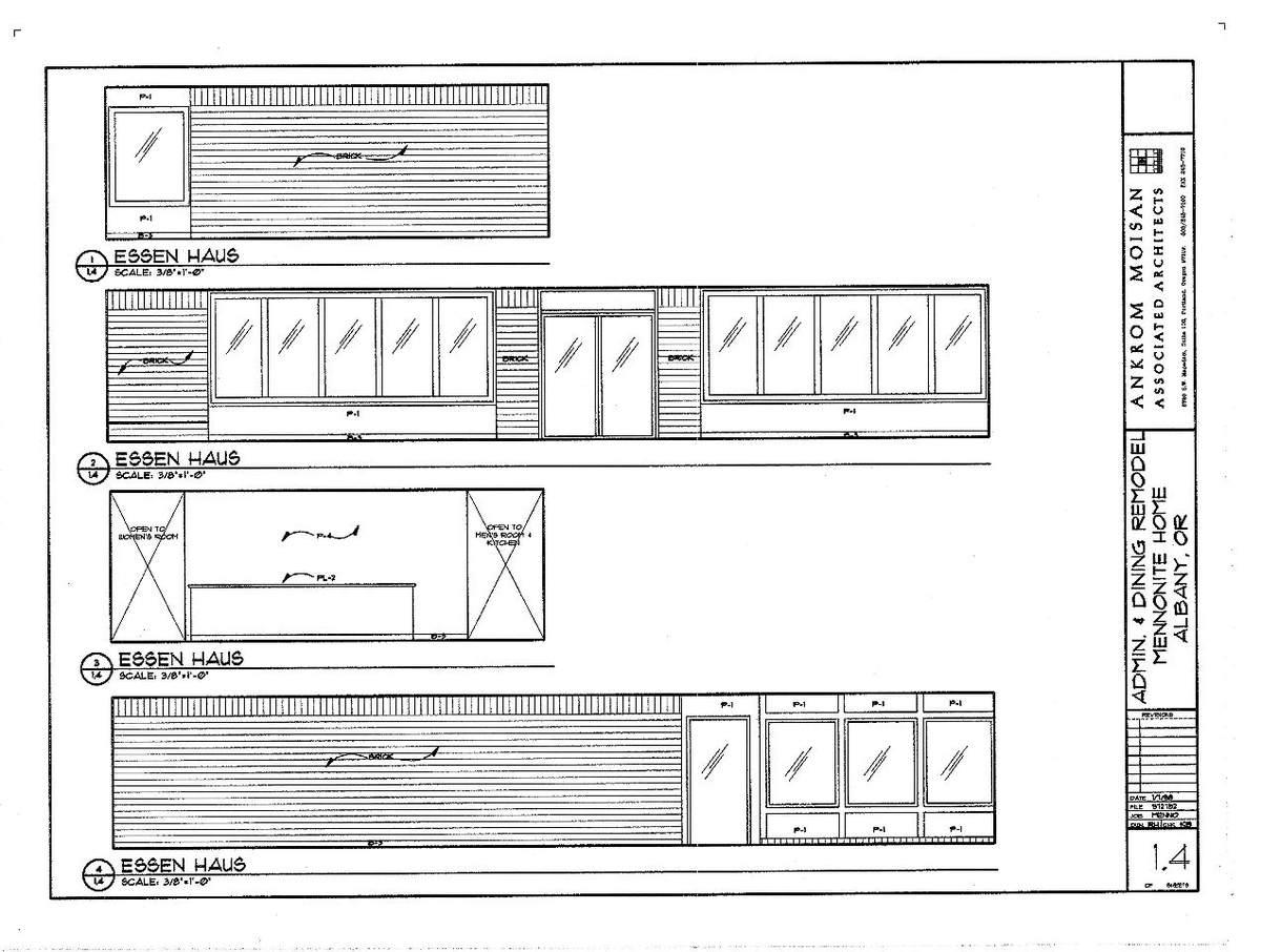 Interior Elevations- Essen Haus