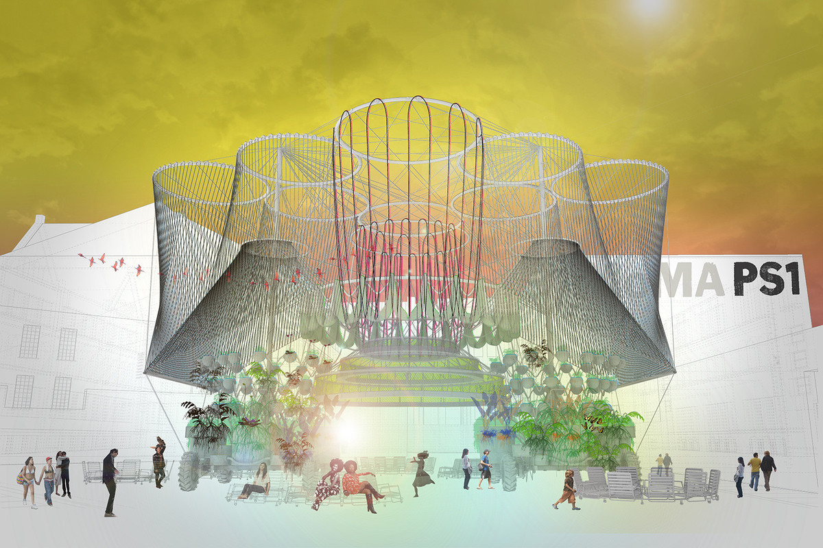 A rendering of COSMO for MoMA PS1. Credit: Andres Jaque/Office for Political Innovation