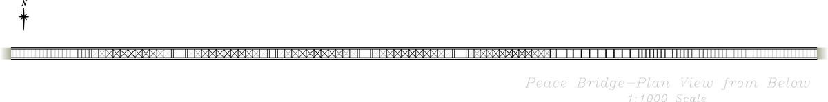 Peace Bridge Plan View (from Below) (CAD)