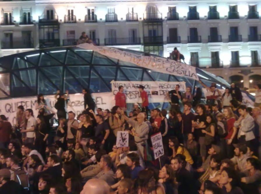 And this was at Puerta del Sol in Madrid.