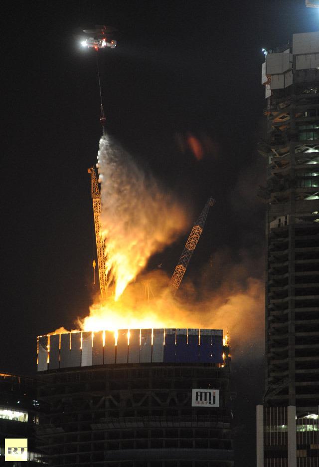 photo of Moscow's Federation Tower burning via RIA Novosti _ Iliya Pitalev