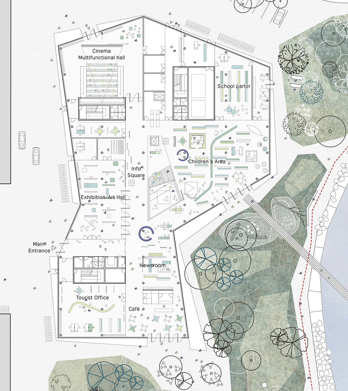 Ground floor plan (Image: schmidt hammer lassen architects)
