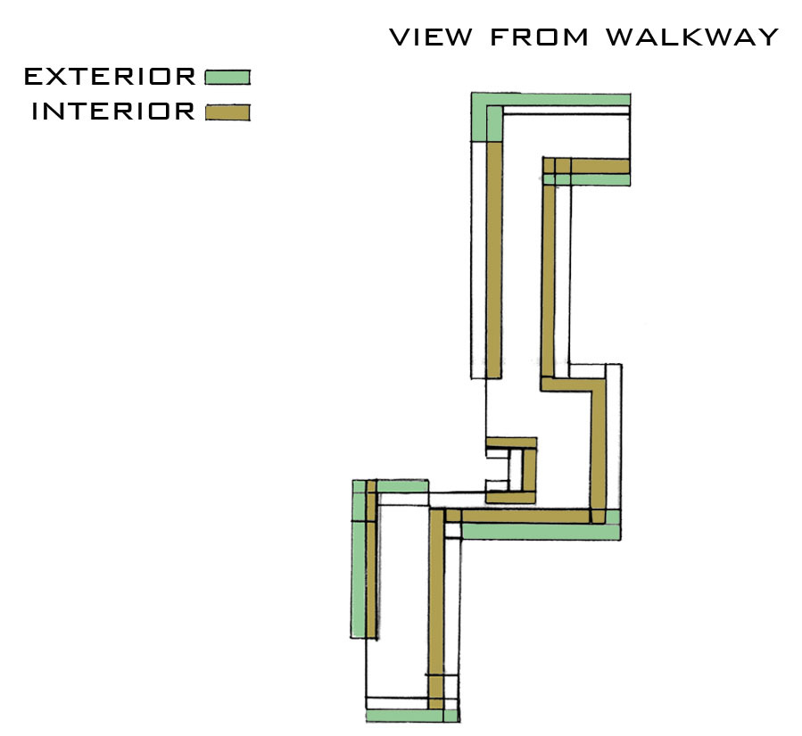 View From Walkway Diagram