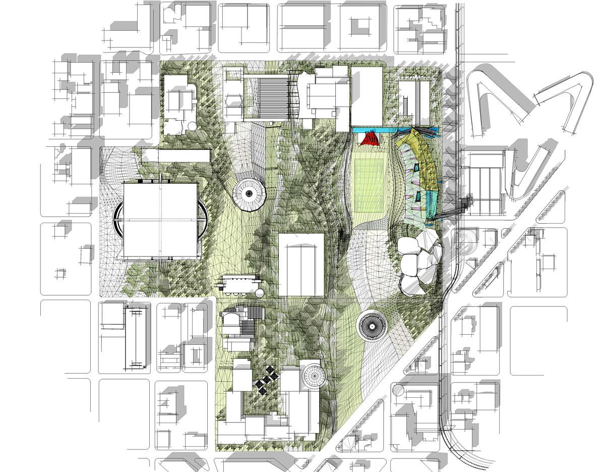 Site plan (Image: Koning Eizenberg Architecture/ARUP)