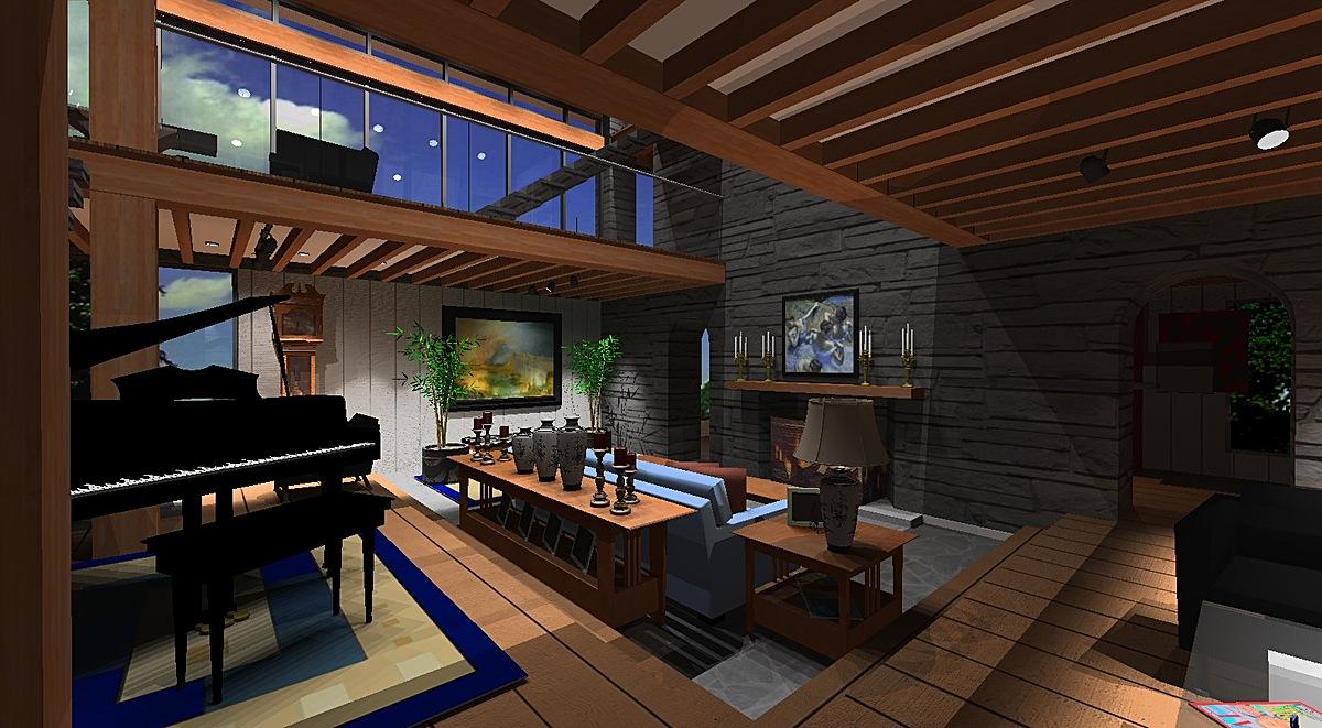 Interior Design, Living Room, Millerton House