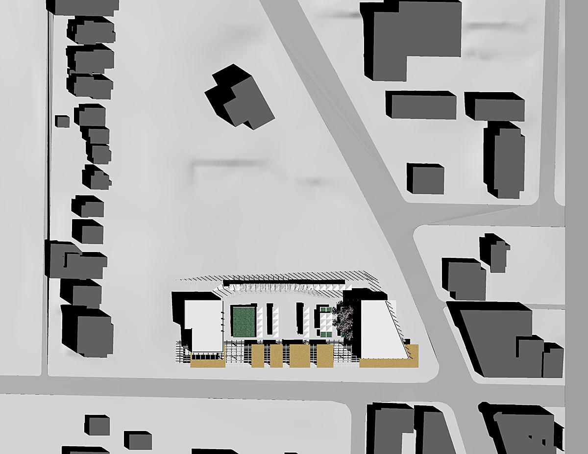 Site Plan, drawn in Rhino