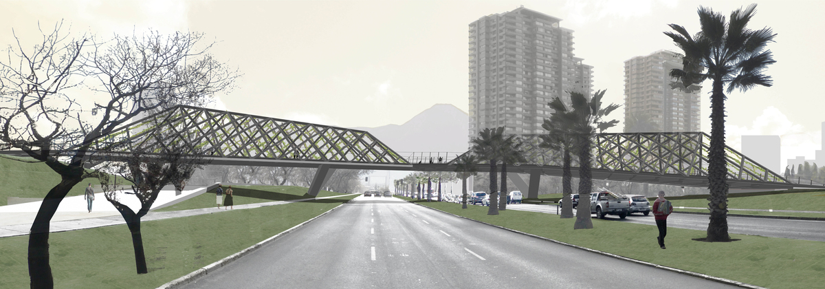 Render- View from Manquehue Avenue