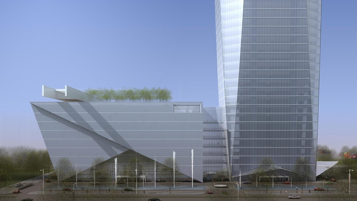 Tian Long Fortune Center, rendering by John Portman & Associates
