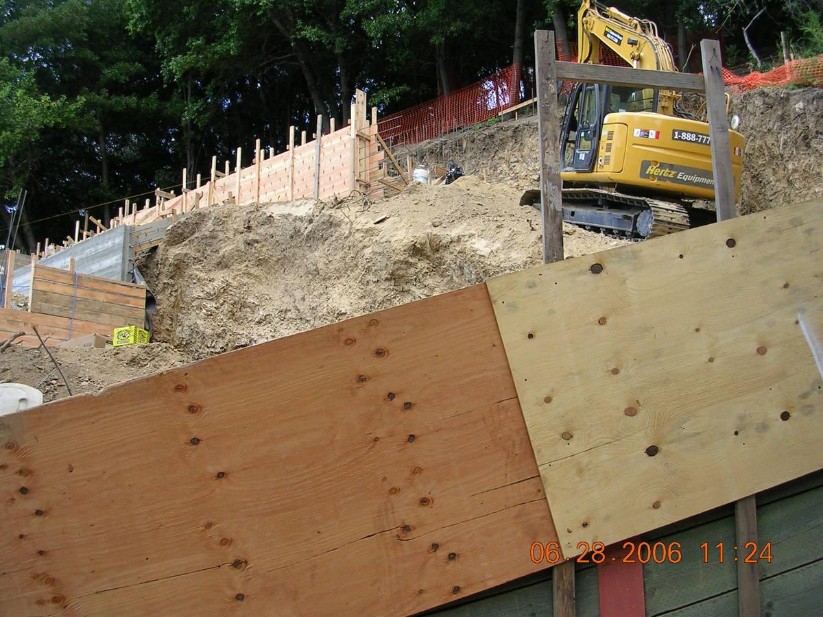 Site work underway.