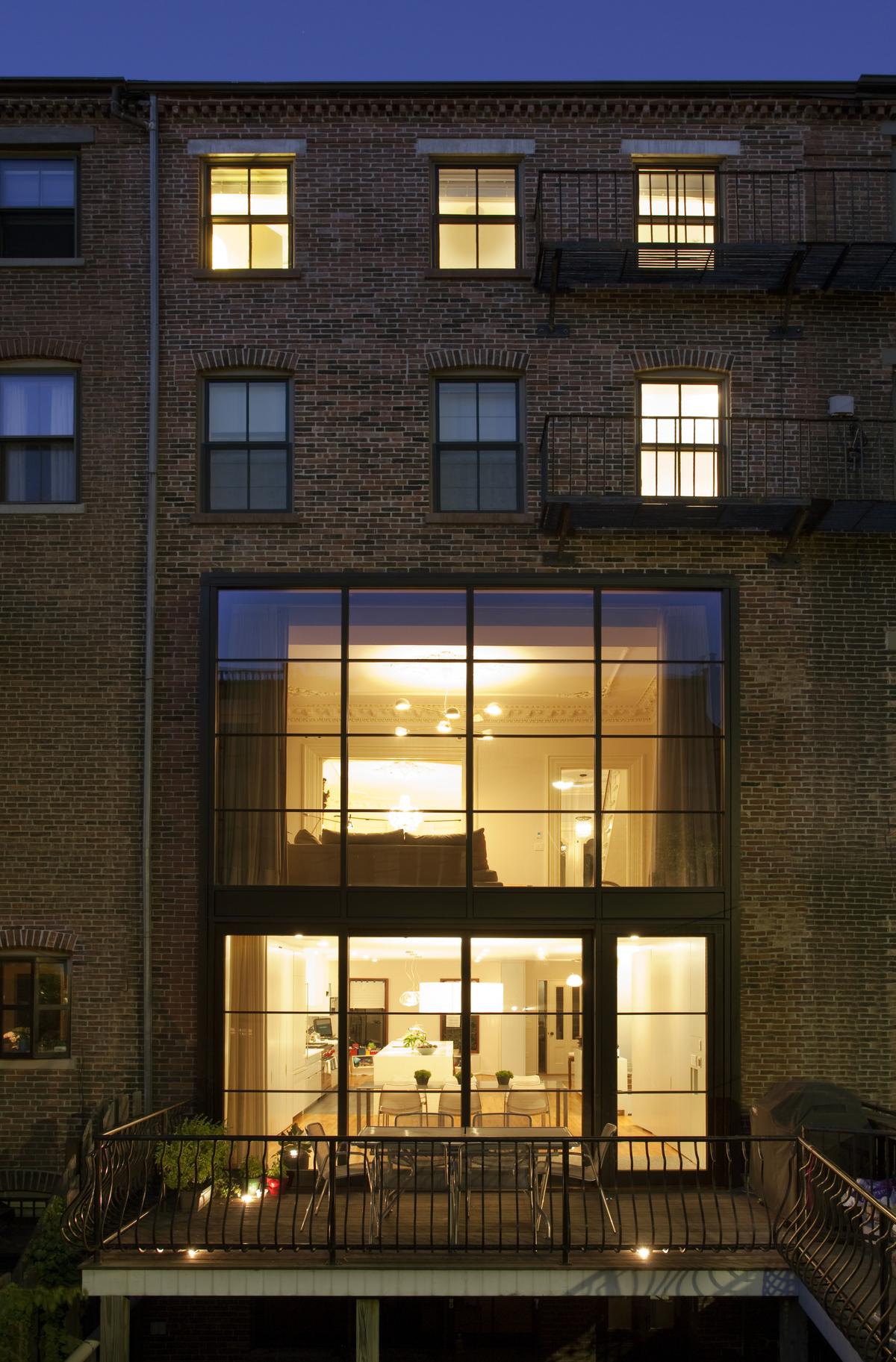 Rear facade and deck