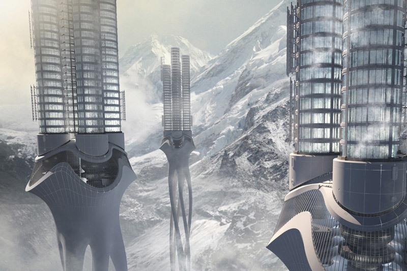 First Place: Himalaya Water Tower, Zhi Zheng, Hongchuan Zhao, Dongbai Song (China)