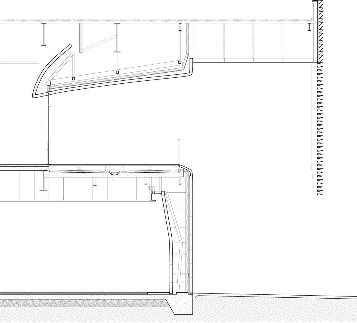 Section through front porch. Illustration courtesy of Trahan Architects