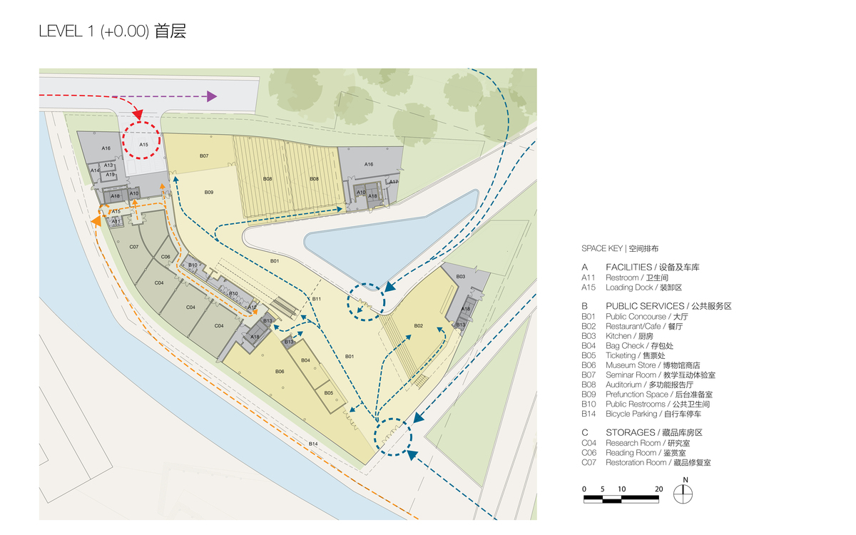 Plan at Level 1 (© Studio Link-Arc)