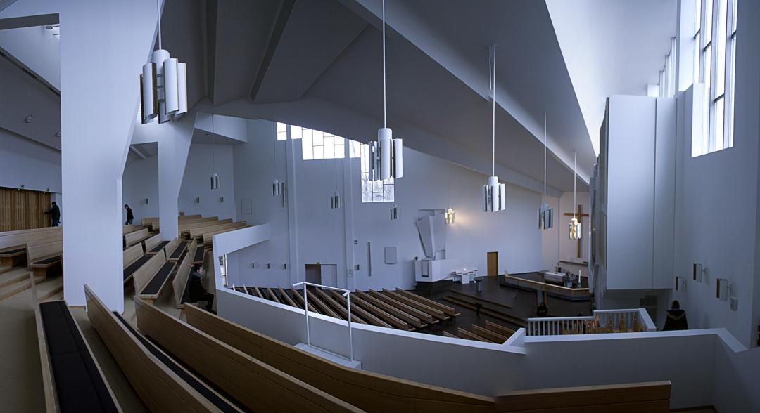 Panorama of the Church of the Cross, Lahti, Finland.