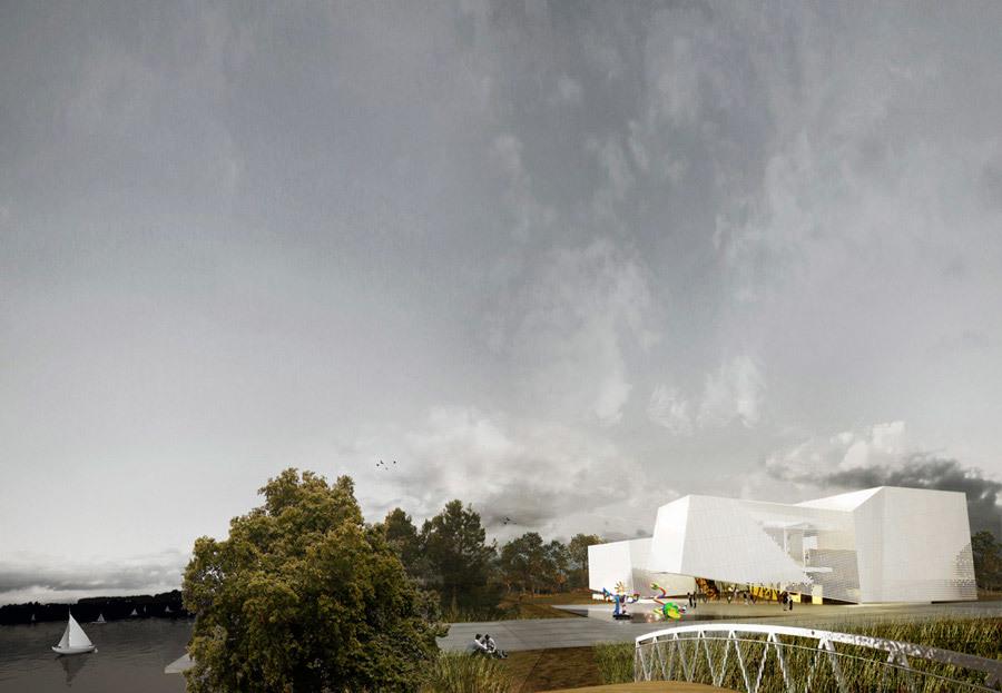 Exterior perspective (Image: Saucier + Perrotte, Architectes)