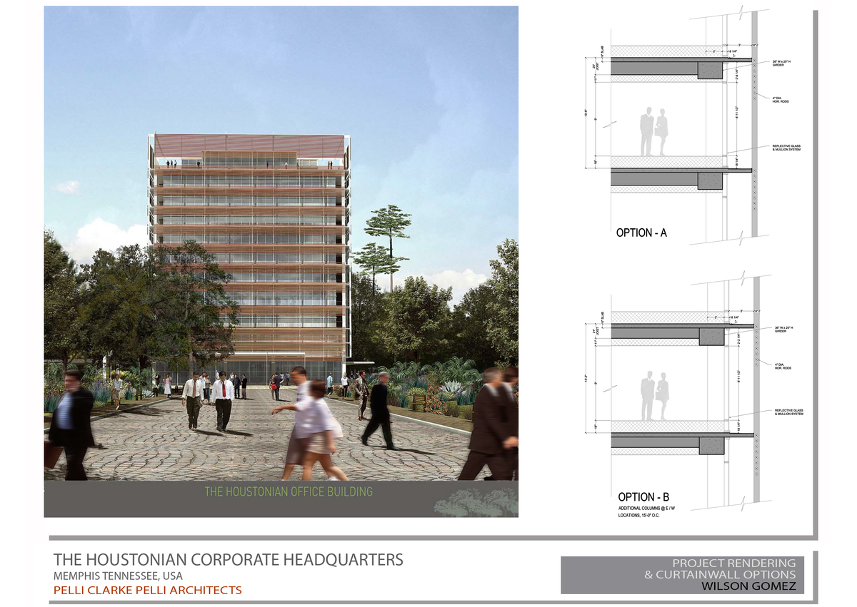 Project Rendering & Curtainwall Sections