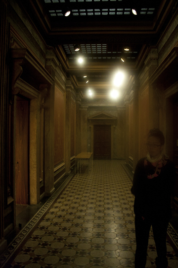 Haunting Interior of the more decadent and classical Finnish National Archives, and Jennifer Wong