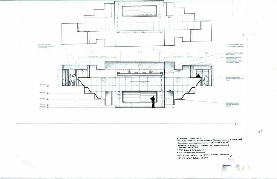Westmont College Winter Hall Lecture Hall Sketch