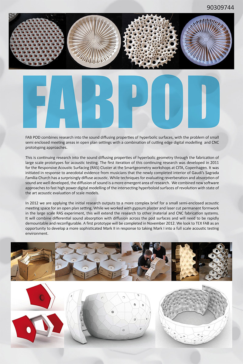 First Round Finalist - Continuing Research: FAB POD by Jane Burry and Nicholas Williams