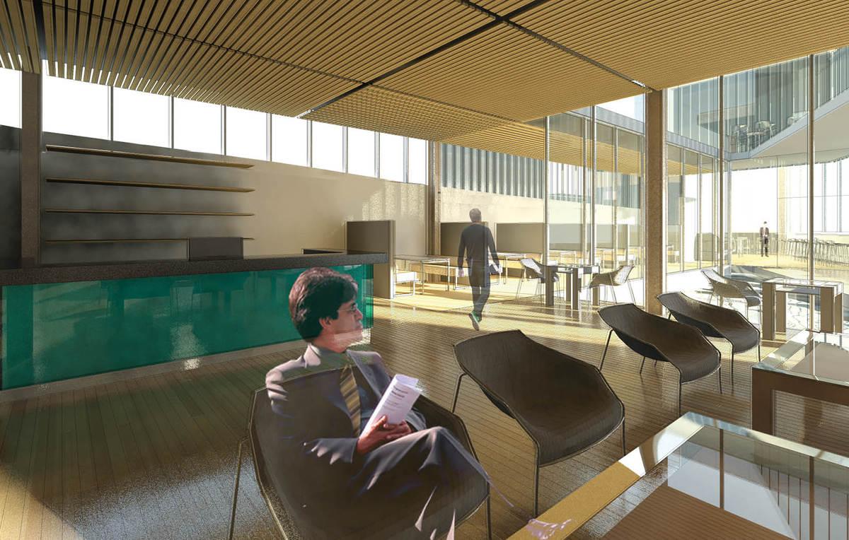 Render: Foyer & Reading Room