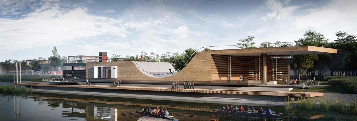 047 – FOCAL POINT 5 | PERSPECTIVE – WATER SPORTS CENTER - Image Courtesy of ONZ Architects & MDesign