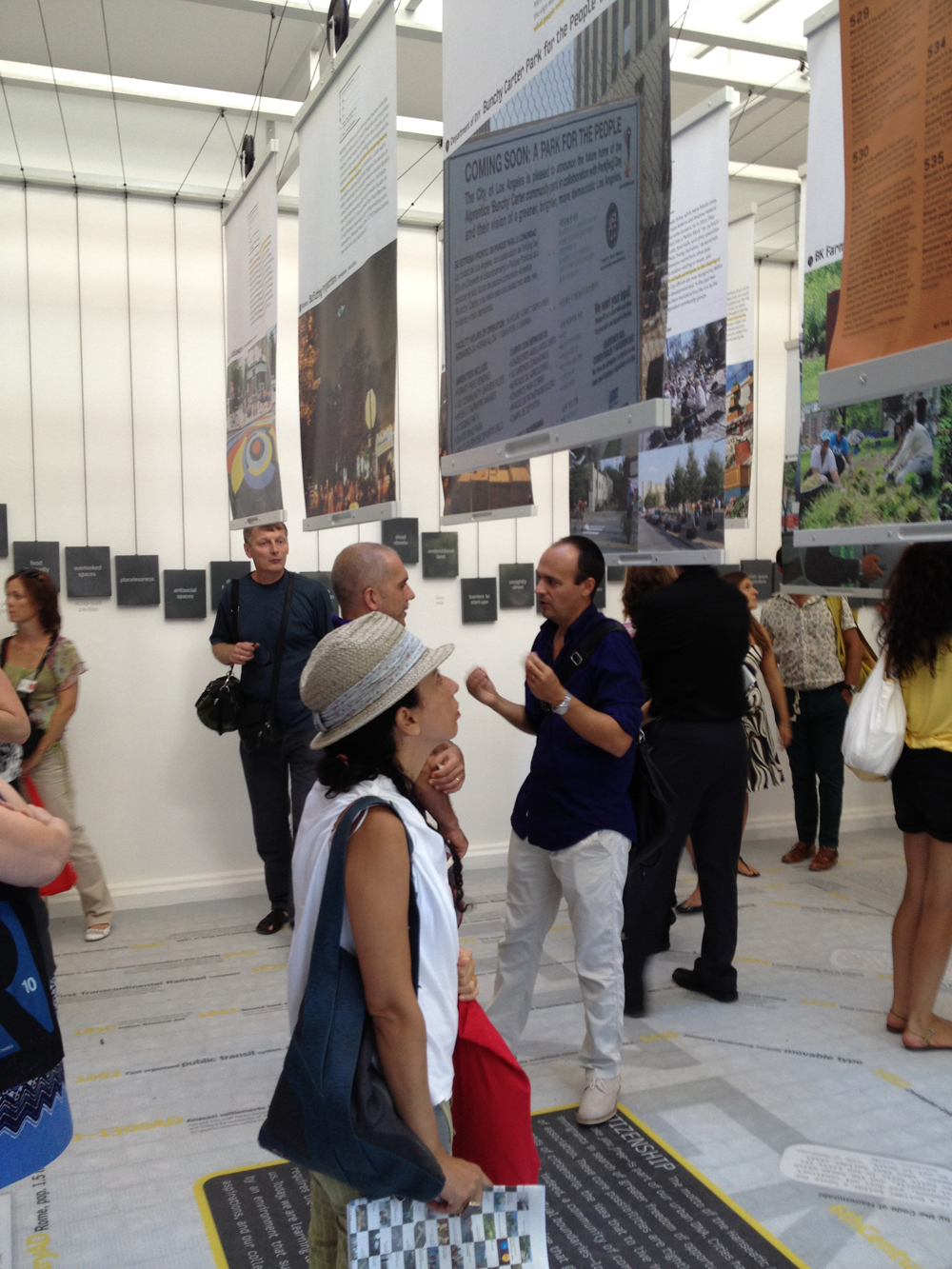 The interactive nature of the project boards made the work in the U.S. Pavilion both an approachable and easily digestible experience by both the visiting press and public.