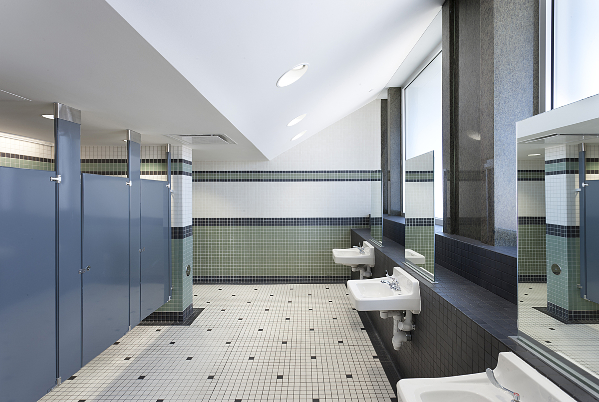 renovated 4th floor restrooms
