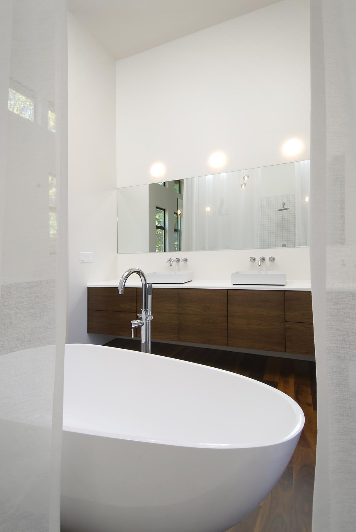 vanity from shower