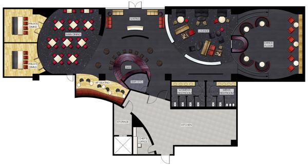 Tapas Armada Rendered Floor Plan.
