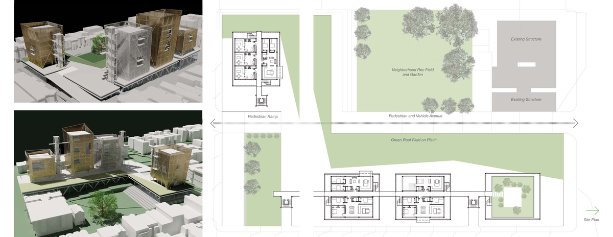 Site Context in Digital Model and Housing Plan