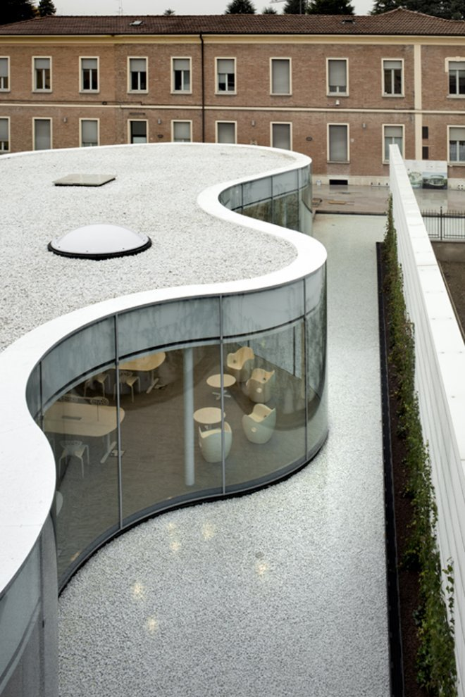 New Town Library in Maranello, Italy