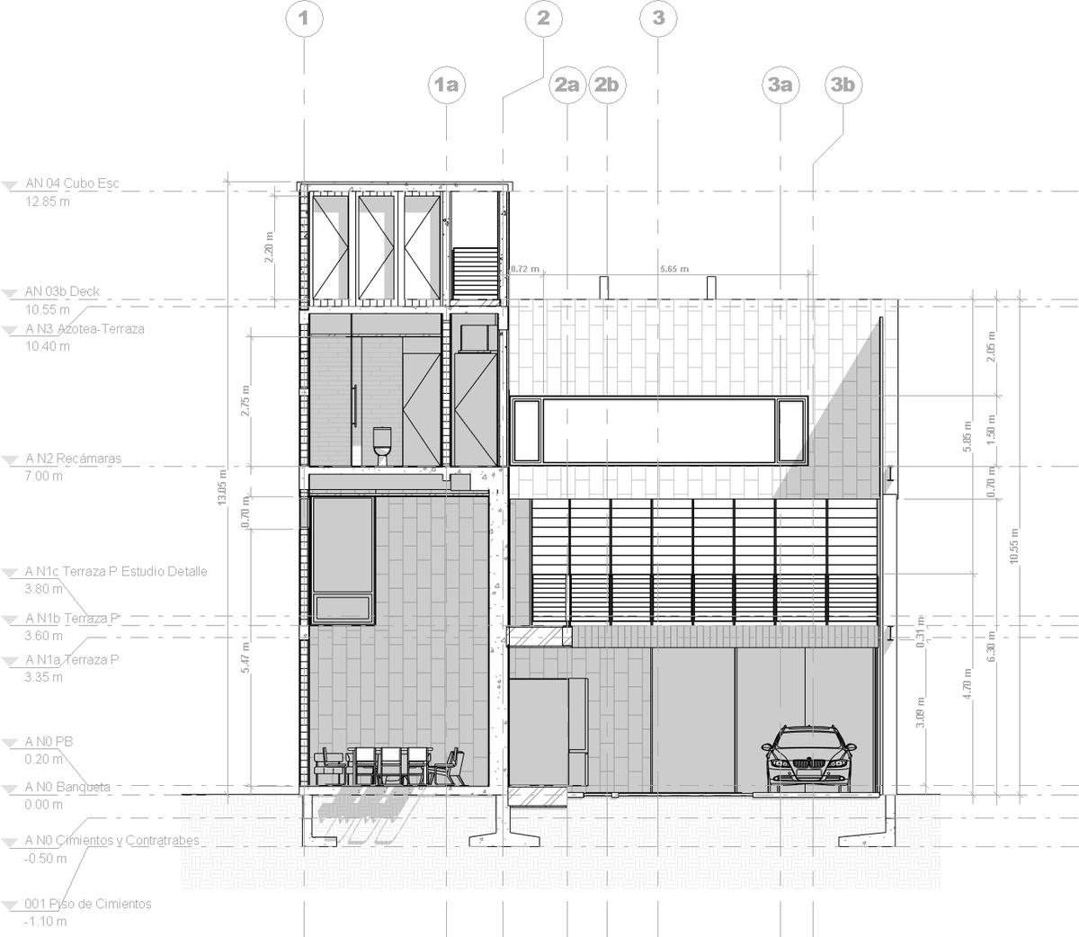 Section plan. PAUL CREMOUX studio