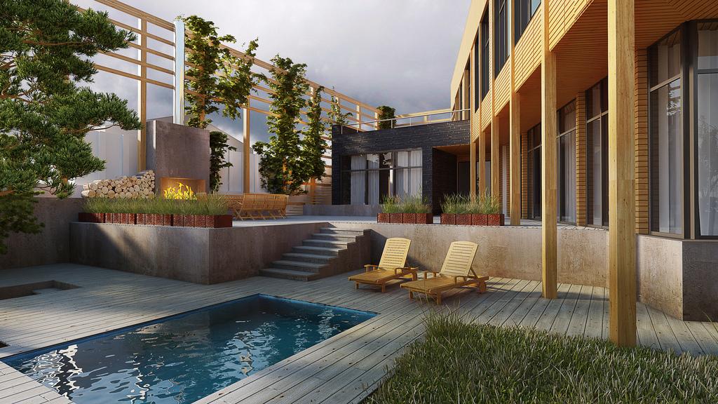 Courtyard view 1