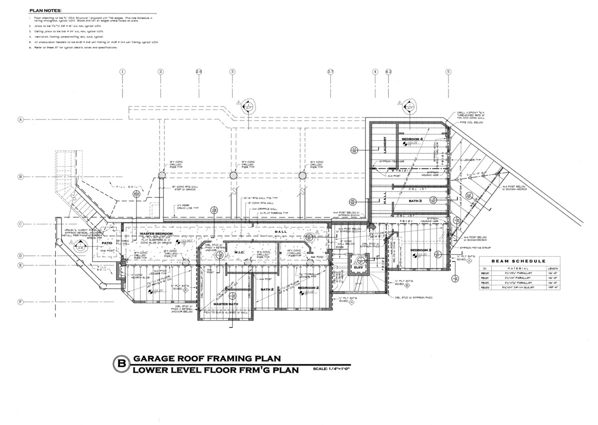 Foundation and framing plan
