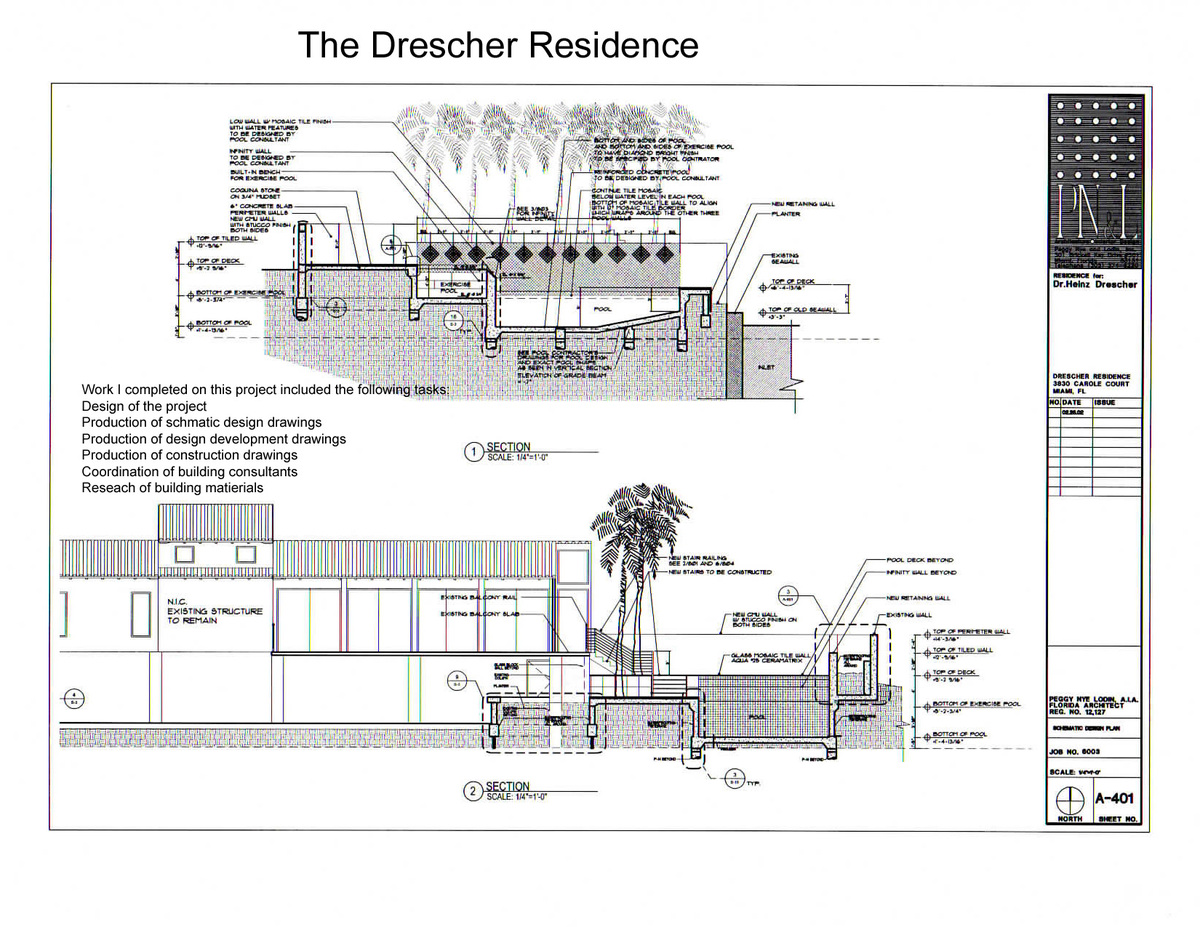 The Drescher Residence-sections