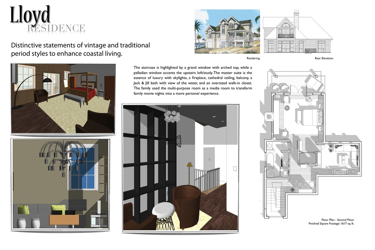 SECOND BOARD CONCEPT BOARD - Residential Design I created in Revit Architecture