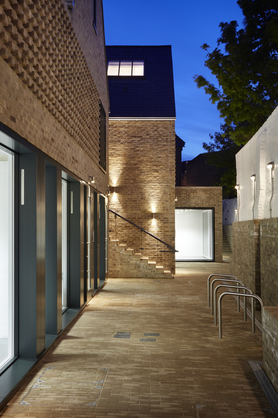Courtyard (night)