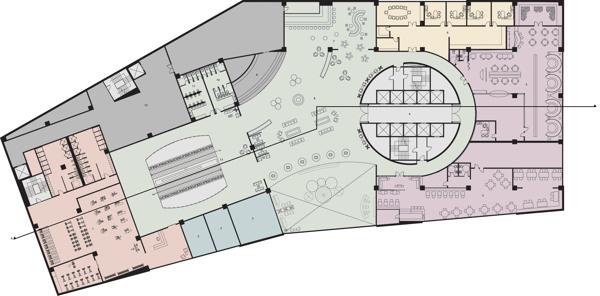 2nd Floor Plan with Zone Blocking.
