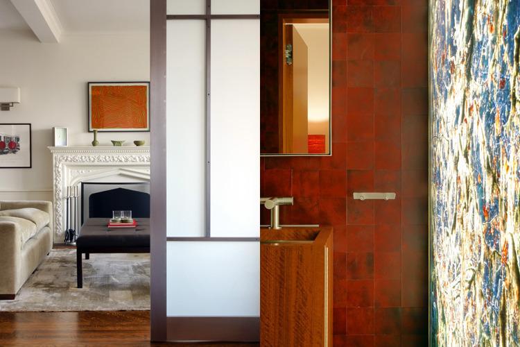 Central Park Mix Living Room/Bath. Photos: T. G. Olcott; Michael Grand; Antoine Bootz; Andrew French
