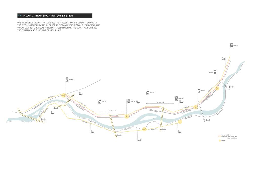 011 – SCHEMES | INLAND TRANSPORTATION SYSTEM - Image Courtesy of ONZ Architects & MDesign