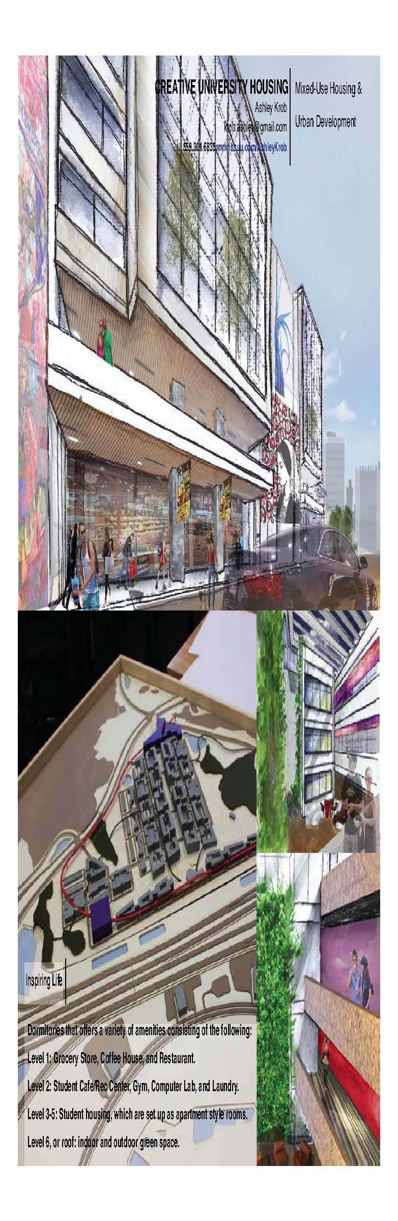 Creative University. Florida. A combination of Urban, Architecture, and Interior Design.